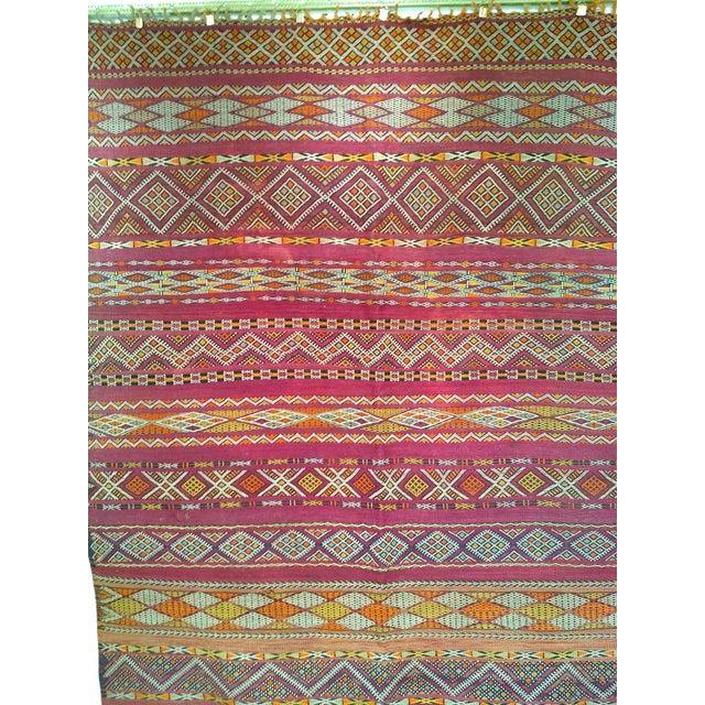 "Vintage Moroccan Kilim 5' 9"" X 10' For Sale - Image 4 of 11"
