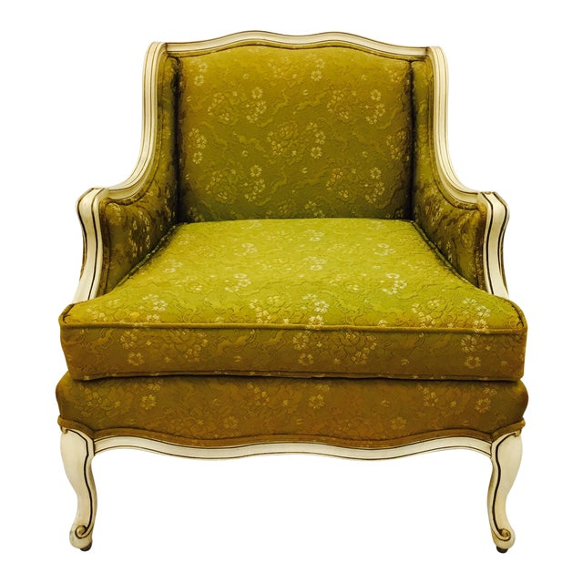Vintage Hollywood Regency French Style Arm Chair - Image 1 of 11