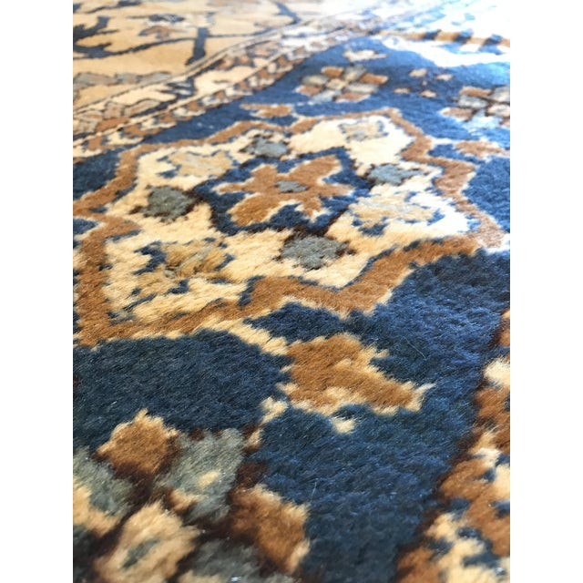 Antique Blue & Tan Turkish Rug - 8′10″ × 11′7″ For Sale In San Francisco - Image 6 of 12