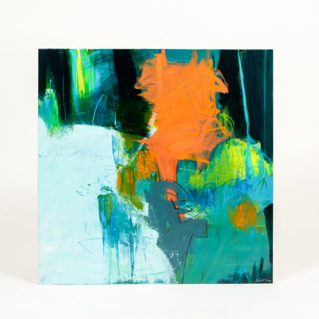 """Abstract Robin Crutcher Original """"Peachy Keen"""" Painting For Sale - Image 3 of 3"""
