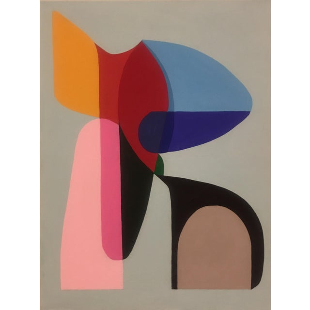 2018 Brooks Burns Original Modern Abstract Sculptural Acrylic Painting For Sale In New York - Image 6 of 6