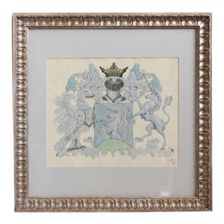 Framed and Matted Crest Artwork For Sale