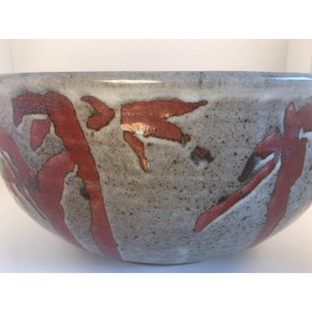 Mid-Century Modern 1960s Mid-Century Pottery Bowl For Sale - Image 3 of 11