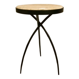 Modern Onyx Tripod Accent Table For Sale