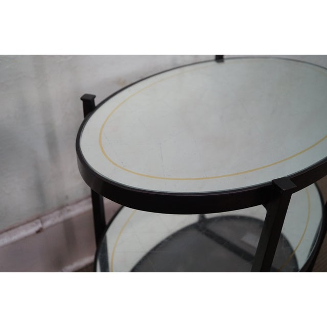 Jonathan Charles Luxe Collection 3 Tier Side Table For Sale - Image 5 of 10