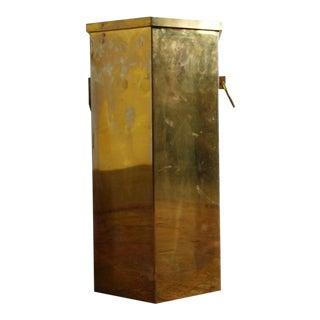 Vintage Brass Umbrella Stand For Sale