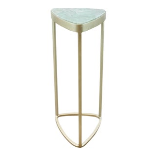 Caracole Modern Amazonite Triangular Drinks Table Prototype For Sale