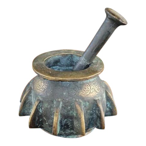Antique Bronze Mortar and Pestle For Sale