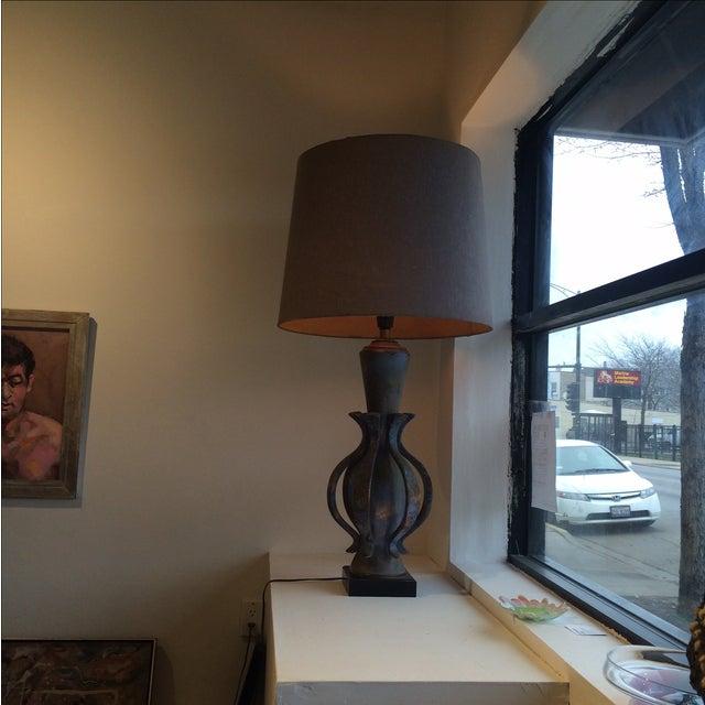 TYE of California Brown Ceramic Table Lamp For Sale - Image 10 of 11