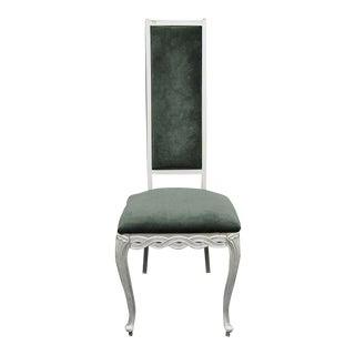 Kessler Ind Vintage Hollywood Regency Silver Infinity Metal Chair Cast Aluminum For Sale