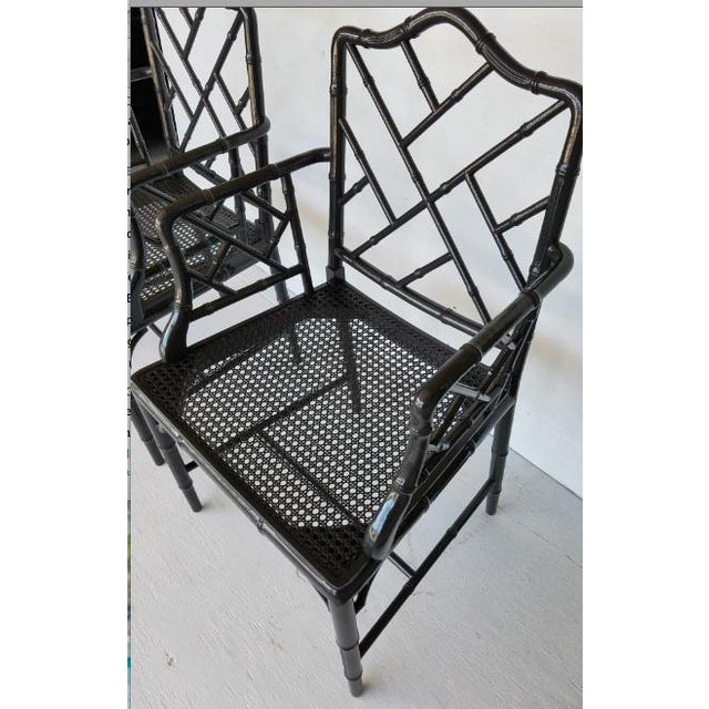 Vintage Wood Chippendale Chairs - Set of 6 For Sale - Image 5 of 7