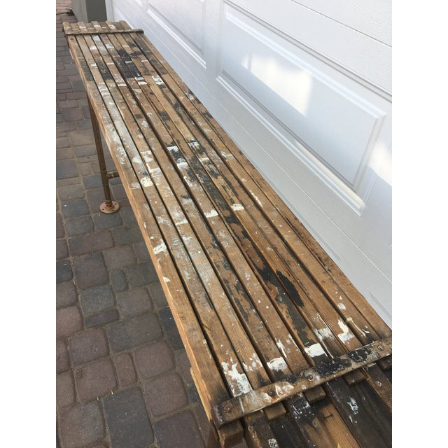 Metal Antique Scaffolding Table For Sale - Image 7 of 11