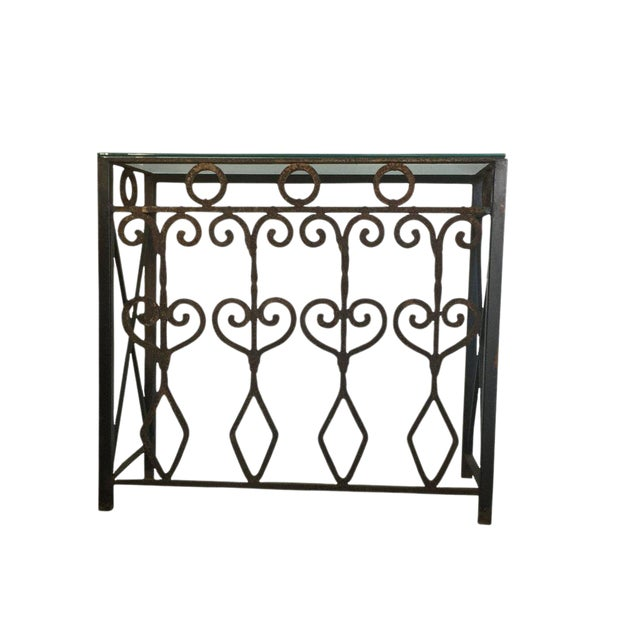 Hand Forged Vintage Iron Table For Sale