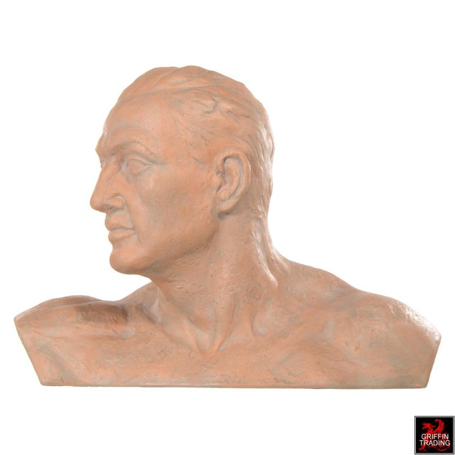 Ceramic Terracotta Bust of a Man For Sale - Image 7 of 10