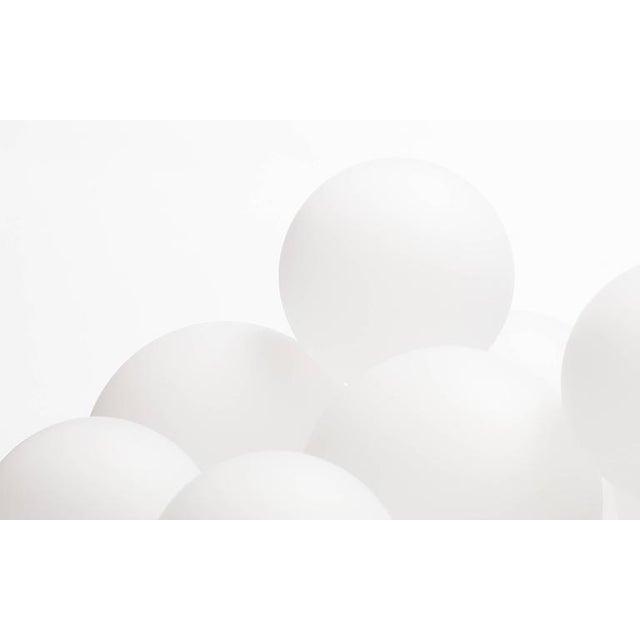 Black Koko Satin Globe Shade & Matte Black Finish Modern Pendant Light For Sale - Image 8 of 10
