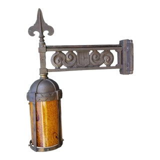 1920s French Art Deco Exterior Wall Light For Sale