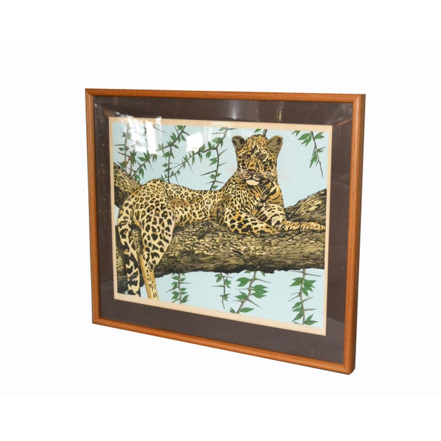 1980s Original Lithograph 'Cheetah' Signed by Artist Mac Couley For Sale - Image 5 of 13
