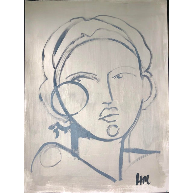 Paper Hayley Mitchell Figure Painting For Sale - Image 7 of 7