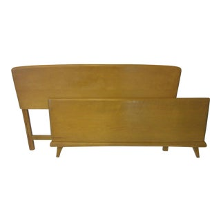 Heywood Wakefield Full Headboard Set / Trophy Suite Wheat For Sale