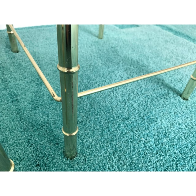 Vintage Glass Top and Metal Nesting Tables- Set of 3 For Sale - Image 10 of 13