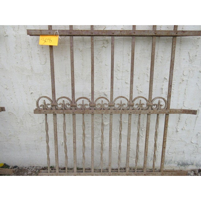 Antique Victorian Iron Gate Window Garden Fence For Sale - Image 4 of 7