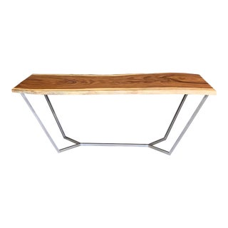 V Twins Live Edge Communal Table For Sale