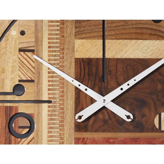 ArosioMilano Samada Brown Wall Clock For Sale - Image 4 of 9
