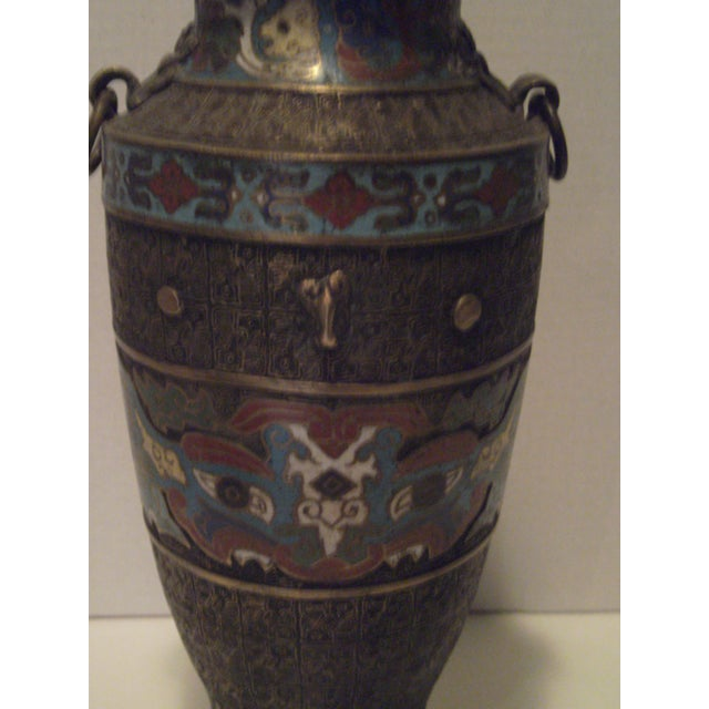 Large Antique Champleve Urn - Image 3 of 11