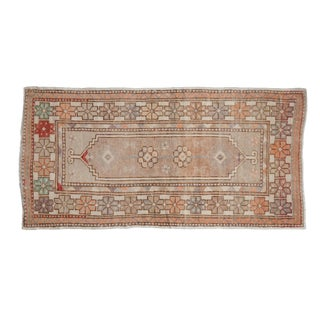"Vintage Distressed Oushak Rug Runner - 2'7"" X 5'2"" For Sale"