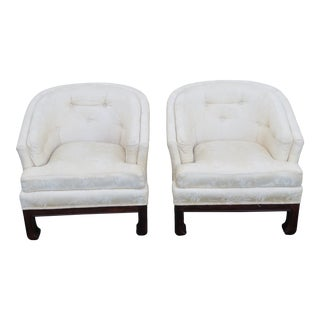 Hollywood Regency Burl Shape Side Chairs by Broyhill - a Pair For Sale