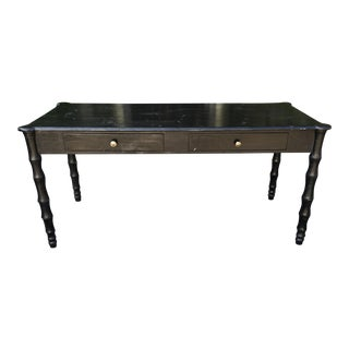Ebonized Walnut Designer Writing Table Desk by Juxtaposition