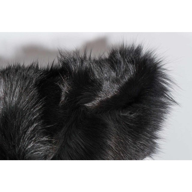 Beautiful long hair double-sided black fox pillows.