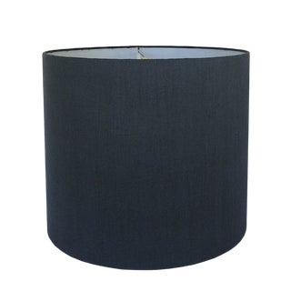 Dark Navy Linen Drum Lamp Shade For Sale