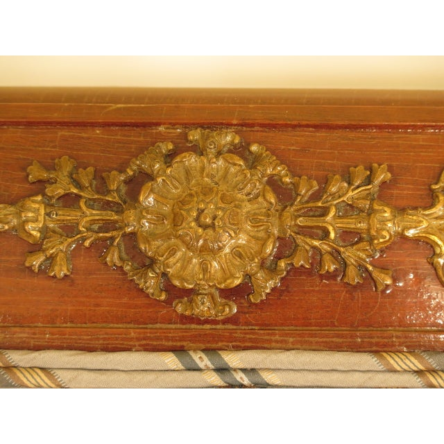 Traditional French Empire Bronze Winged Phoenix Sofa For Sale - Image 10 of 13