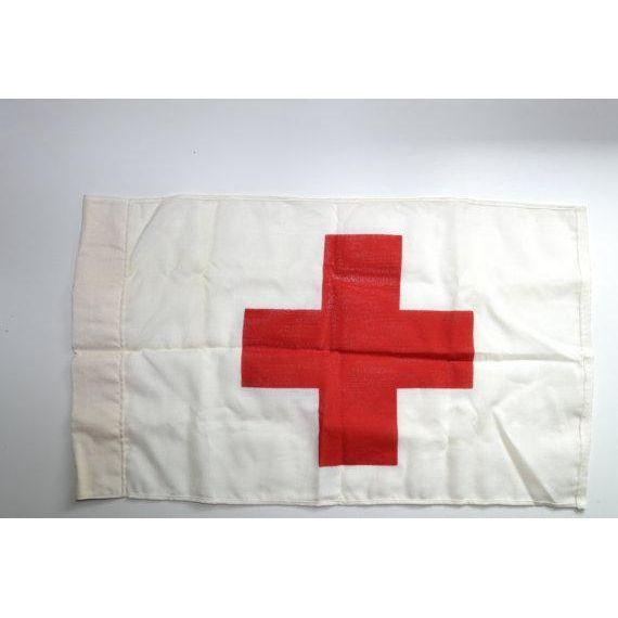 Vintage Red Cross Marker Flag - Image 3 of 5