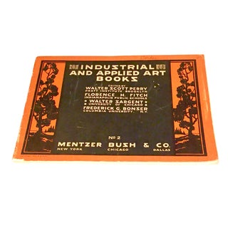 "1924 Mentzer Bush & Co. ""Industrial & Applied Art Books"" Book For Sale"
