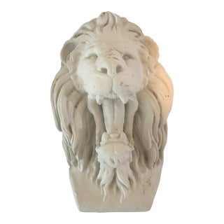 French Rustic Concrete Lion Wall Hanging Accent For Sale