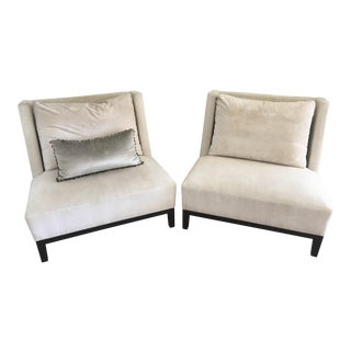 Christian Liaigre Contemporary Lounge Chairs - a Pair