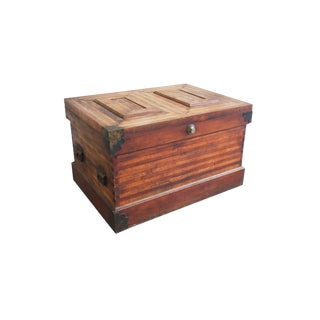 19th Century Wood Parquetry Trunk For Sale