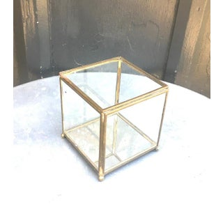 Vintage Brass & Glass Mirrored Display or Jewelry Box Preview