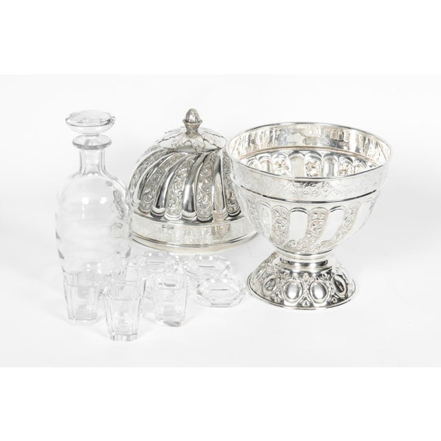 Sheffield Silver Plated Egg Shape Liquor Cave - 7 Pc. Set For Sale - Image 11 of 13
