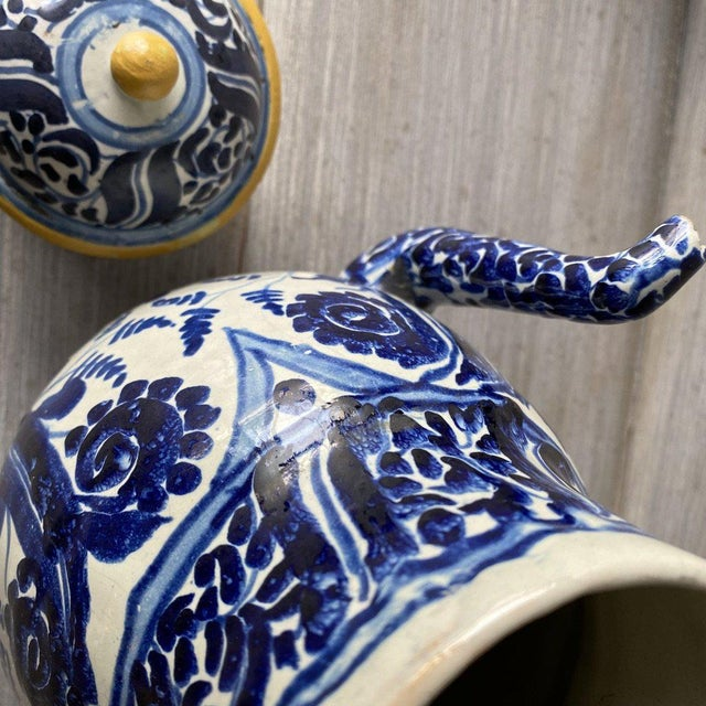 Mexican 1920s Mexican Tea Pots & Creamer - Set of 2 For Sale - Image 3 of 13