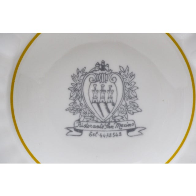 Ristorante San Marino Porcelain Ashtray - Image 3 of 6