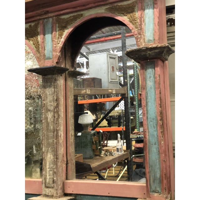 Wood Antique Carousel Panel Mirror For Sale - Image 7 of 8