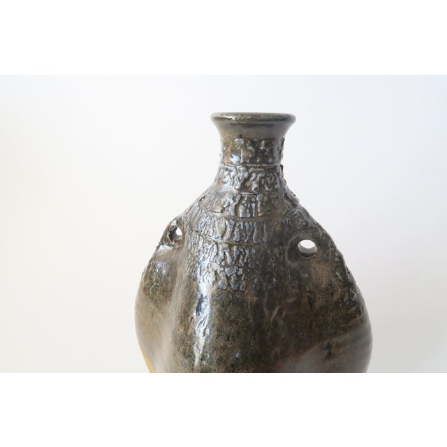 Vintage Ceramic Studio Pottery Vase For Sale In Los Angeles - Image 6 of 6