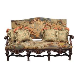 Belgian Renaissance Style Needlepoint Sofa For Sale