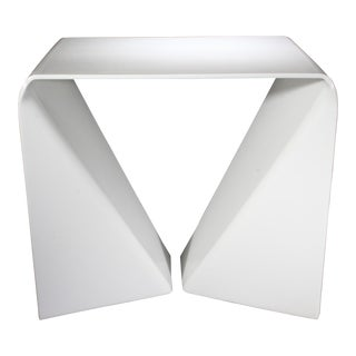 Original Neal Small Acrylic Side Table For Sale