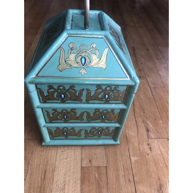 Vintage Indian Hand Painted Box For Sale - Image 10 of 13