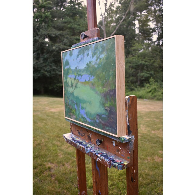 """Paint Stephen Remick """"Ocean Through the Trees"""" Contemporary Plein Air Painting For Sale - Image 7 of 12"""
