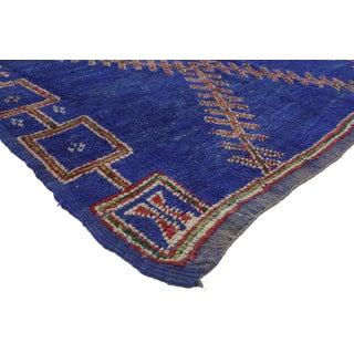 Vintage Berber Blue Moroccan Rug, 5'10x11' Preview